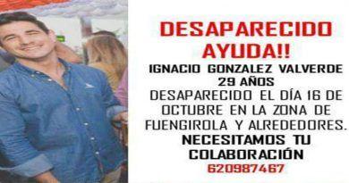 Ignacio González de 29 años, ¡DESAPARECIDO! Desde el lunes 16 de octubre en Fuengirola y Alrededores