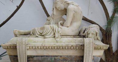 """Desaparecida la escultura """"Fidelidad"""" de más de mil kilos cedida temporalmente al Museo de Bellas Artes de Málaga"""