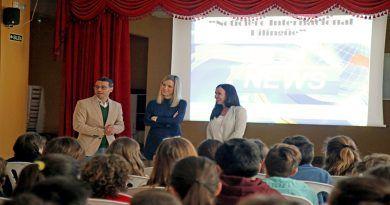 Un colegio de Mijas pone en marcha un noticiario televisivo internacional bilingüe