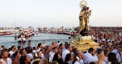Más de una treintena de procesiones de la Virgen del Carmen  en la provincia. (Días y Horarios)