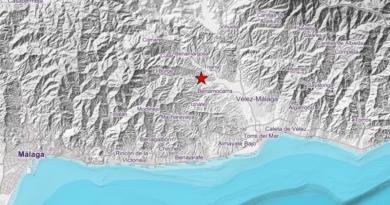 Registrado un terremoto de magnitud 3 en el este de Málaga