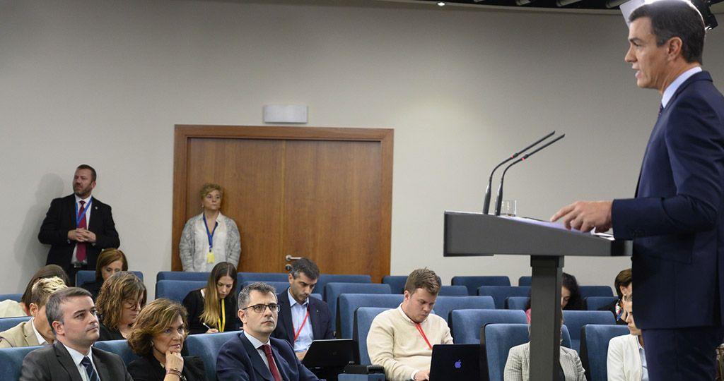 Resultado de imagen de declaración institucional del Presidente del Gobierno en funciones Pedro Sánchez sentencia del Tribunal Supremo sobre el 'procés' en Cataluña.