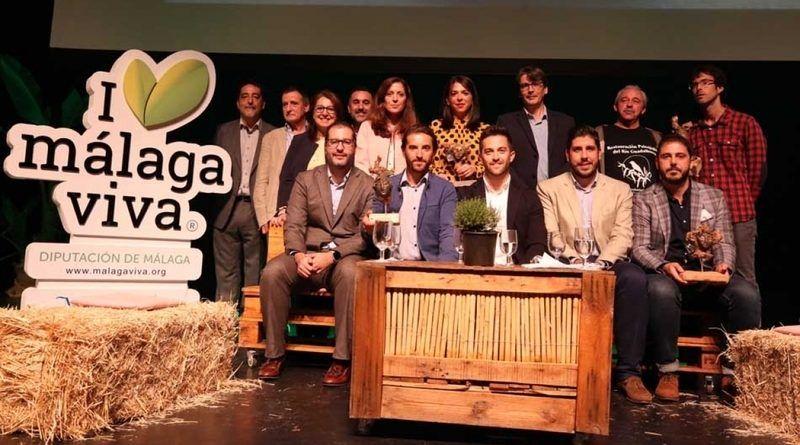galardonados del I Premios Málaga Viva 2018