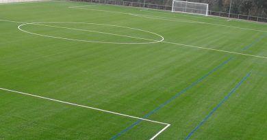 El campo de fútbol de Villanueva de Tapia será de césped artificial en 3 meses