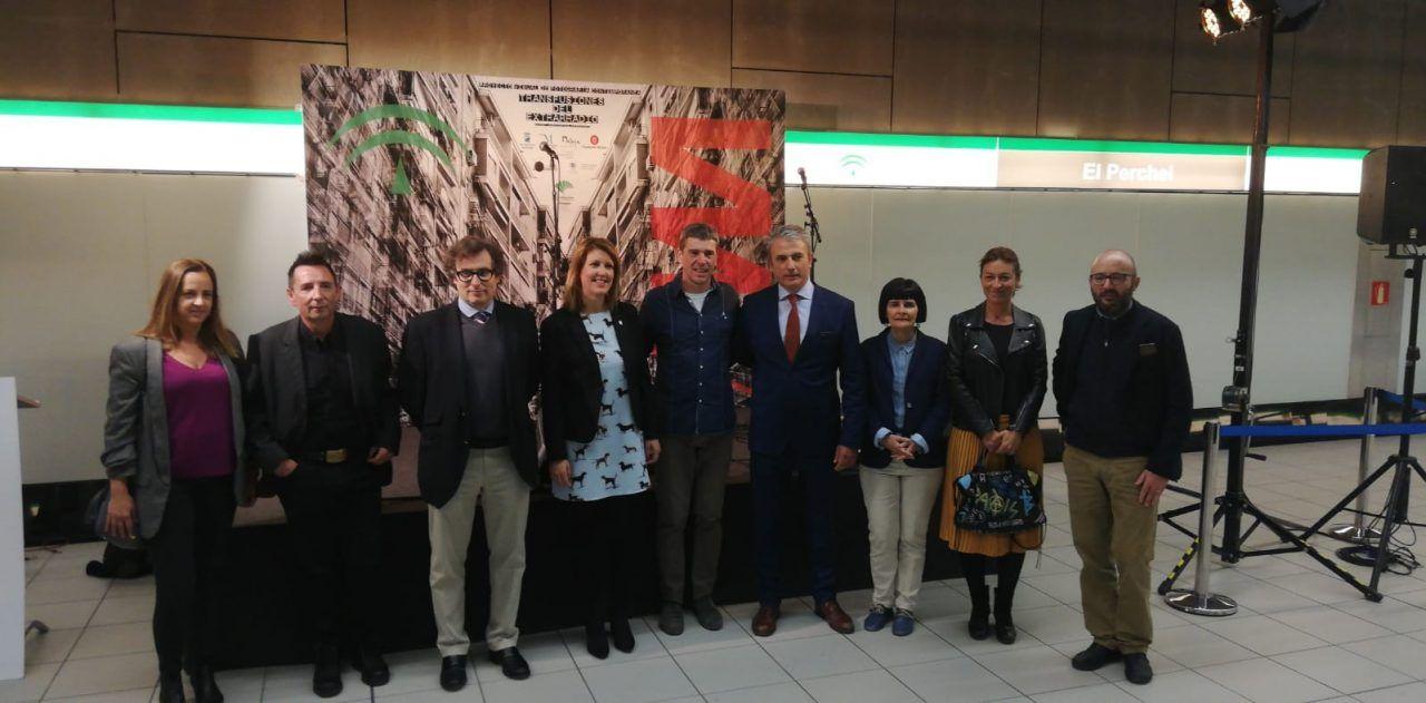 inauguración exposicion metro, málaga