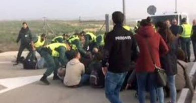 Incidentes entre la Guardia Civil y trabajadores de la cárcel de Archidona