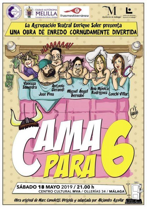 cama para 6, comedia teatral en en centro cultural