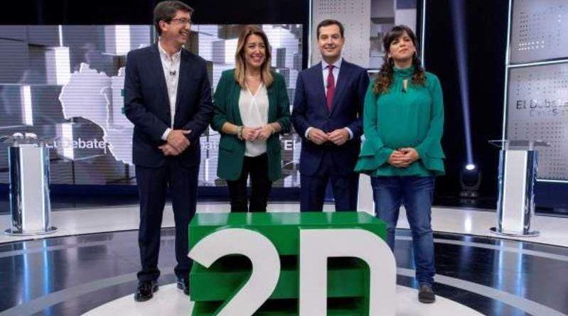 Gran debate en Canal Sur de los cuatro candidatos principales ante las elecciones del 2D