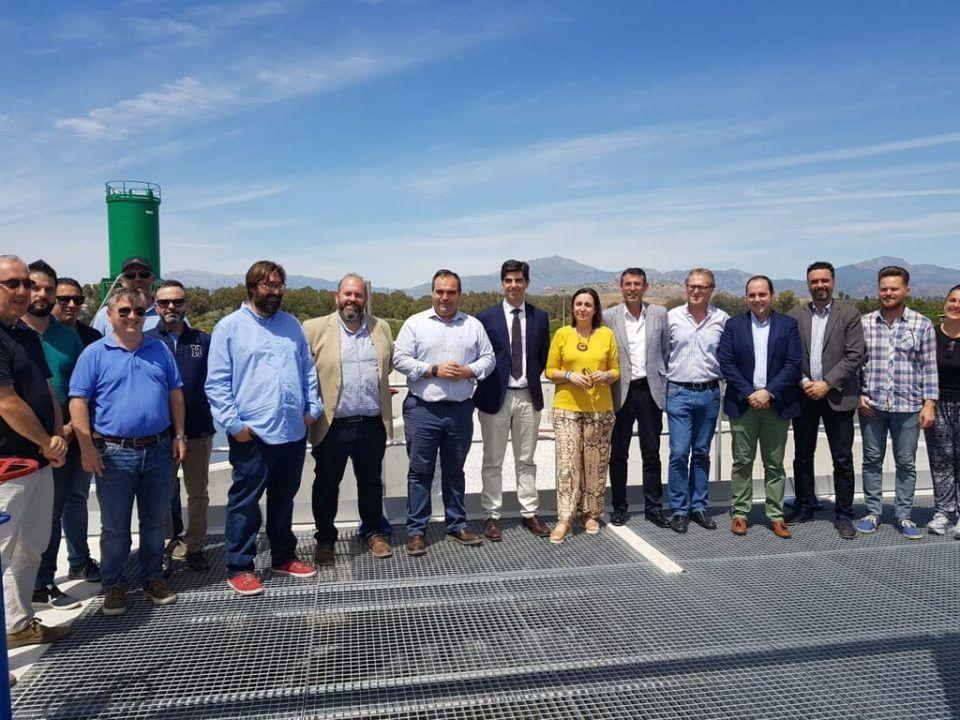 visita de la consejera a la depuradora de aguas residuales del bajo guadalhorce