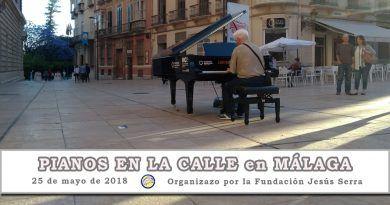 7 pianos de cola en Málaga dejándose tocar por Málaga y los malagueños