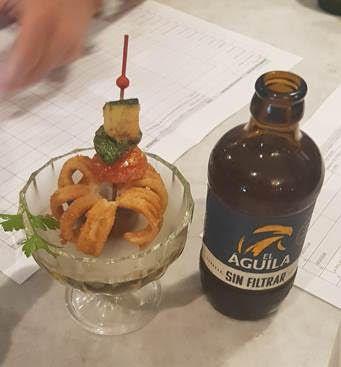 nenufa del mar en bruma, tapa participante de la I Ruta de la tapa de expertos cerveceros de Marbella