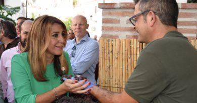 Susana Díaz asiste en El Borge  al tradicional Día de la Pasa